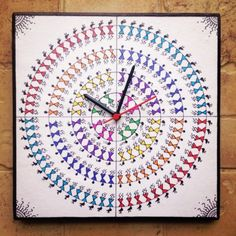 Online Shopping for Colourful Handmade Hand Painted War | Clocks | Unique Indian Products by Maddie's Fingers, The Arty Ones - MMADD22095296400