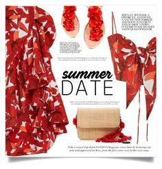 """Summer Date Night"" by jecikilicica ❤ liked on Polyvore featuring Johanna Ortiz, Glorinha Paranagua, Charlotte Olympia, summeroutfit and summerdatenight"