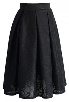 Paisley and Plaid Airy Pleated Skirt in Black - Bottoms - Retro, Indie and Unique Fashion