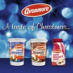 avonmore christmas - Google Search Milk Processing, Ben And Jerrys Ice Cream, Whipped Cream, Brand Names, Google Search, Desserts, Christmas, Food, Tailgate Desserts