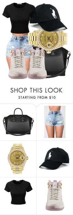 """Untitled #360"" by sarajordan2993 ❤ liked on Polyvore featuring Givenchy, Rolex, Ralph Lauren, LE3NO and NIKE"