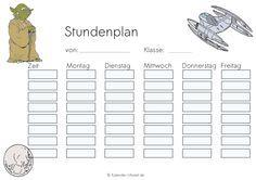 Stundenplan Star Wars http://www.kalender-uhrzeit.de/stundenplaene#Ausmalen_Ausdrucken #KalUhr