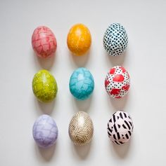 washi tape eggs   Washi Tape Your Easter Eggs!