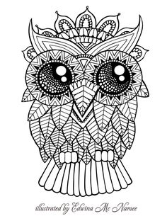 "owl | free sample | Join fb grown-up coloring group: ""I Like to Color! How 'Bout You?"" https://m.facebook.com/groups/1639475759652439/?ref=ts&fref=ts"