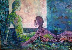 Acryl, mixed media. Yvonne Huiskamp