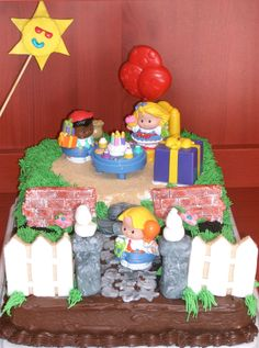 Katie's Little People Birthday Cake