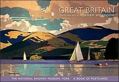 Published with the National Railway Museum, York, this book of postcards contains 27 reproductions of travel posters by Norman Wilkinson (English, 1878 –1971).