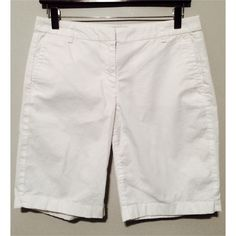 LIKE NEW J Crew White Bermuda Shorts J Crew Bermuda shorts in size 4. Like new condition. Model photo is just to show fit; these are white. J. Crew Shorts Bermudas