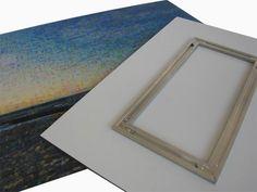 The hanging system for acrylic glass // Unser Aluminium-Aufhängesystem für Fotomosaiks auf Acrylglas