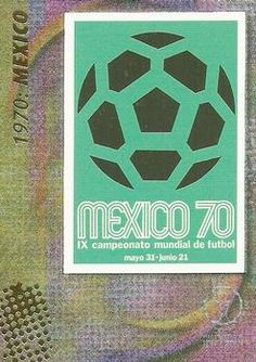 2002 Panini World Cup #12 Official Poster 1970 Mexico Front