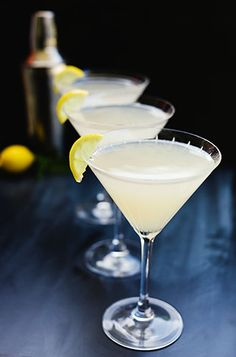 Lemon drop martinis on Ideasevite.com by GEEZ Louise
