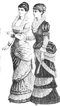 1881 evening gowns- I think I could rock this without the bustle- I've got enough junk in my trunk!