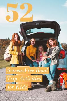 52 fun and car-friendly activities for kids of all ages––that don't require screens while you're on the road! Road Trip Activities, Activities For Kids, Family Road Trips, Crafts For Kids To Make, Toddler Crafts, Screens, Car, Travel Activities, Kid Crafts