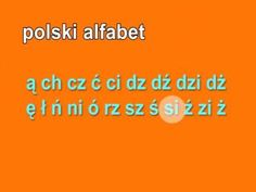 Polish Alphabet and Pronunciation Polish Alphabet, Learn Polish, Polish Words, Carol Songs, Polish People, Polish Christmas, Polish Language, Visit Poland, Polish Folk Art