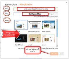 Built Your Blog สร้างบล็อกของคุณ: ตั้งชื่อบล็อกของคุณ Set up your Blog Address