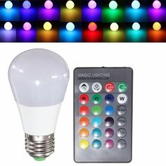 E27 3W RGB LED Light Bulb Ball Lamp Color Changing+IR Remote Control AC 85-265V