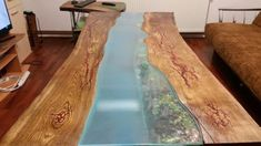 Rustic Style Solid Wood Dining Table 1.70 m, Oak Fractal Epoxy Resin