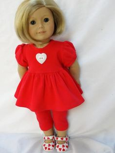 Red Capri Outfit with Fun Heart Shoes - (45) Separates
