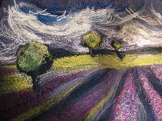 Textile Landscape by kayla coo, via Flickr Cross Stitch Embroidery, Hand Embroidery, Machine Embroidery, Textile Fiber Art, Fibre Art, Contemporary Embroidery, Fabric Journals, Thread Painting, Fabric Manipulation