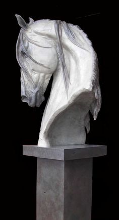 Life Size Spanish Horse bust