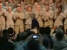 Very Interesting to see the Difference between Bush being greeted by the troops and Obamas reception! What do you think!