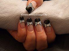 Nail art motivo 275 - Esmalte y nail art liner para decorar las uñas - http://www.schmucknaegel.de/