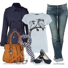 Rainy Day on Campus, created by archimedes16 on Polyvore