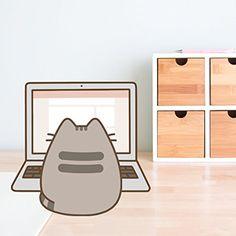 Pusheen back to work Gato Pusheen, Pusheen Love, Kawaii Wallpaper, Cute Wallpaper Backgrounds, Cute Wallpapers, Chat Kawaii, Kawaii Cat, Cute Cartoon Drawings, Animal Drawings