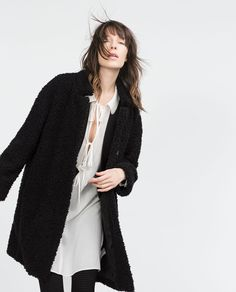 Image 2 of FURRY COAT from Zara