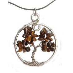 Natural Tigers Eye Tree of Life Pendant by SweetfireCreations Washer Necklace, Pendant Necklace, Tree Of Life Pendant, Tigers, Etsy Shop, Eyes, Trending Outfits, Unique Jewelry, Natural