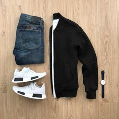 Going with a more casual street look today. What would you add to complete this outfit? Rate this outfit below ⤵️ Jacket:… Stylish Mens Outfits, Casual Outfits, Men Casual, Fashion Outfits, Stylish Menswear, Stylish Clothes, Dress Casual, Casual Chic, Fashion Trends
