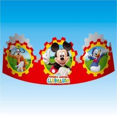 6 Disney Mickey Mouse Clubhouse Party Classic Headbands Hats #Disney #MickeyMouse #Birthday #Party #Supplies #Tableware #Decorations