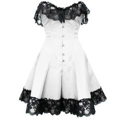 White Gothic Steel Boned Lace Corset Dress