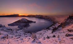 Crater Lake Sunrise - Photograph at BetterPhoto.com