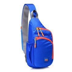Casual Lightweight Waterproof Nylon Chest Bag Outdoor Sport Crossbody Bag  Backpack Bags 5d0d4882e0fc7
