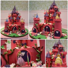 Princesses in the Castle - by Maya Delices @ CakesDecor.com - cake decorating website