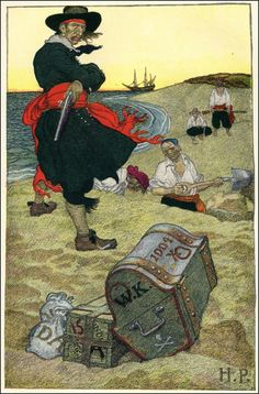 Howard Pyle's Book of Pirates   Published by Harper & Brothers ~ 1921