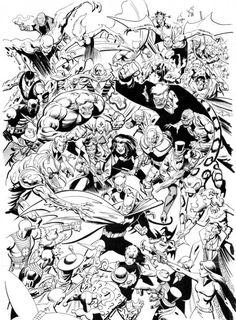Batman and his rogues by Norm Breyfogle Comic Book Heroes, Comic Books Art, Dc Heroes, Book Art, Nightwing Wallpaper, Nananana Batman, Comic Art Community, Batman Beyond, Batman Universe
