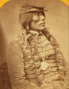 Ute man, circa 1871. Ute people were wary of being photographed. Often neglected is the political climate of the era. The long running Black Hawk War (1865-1872) with Mormon settlers gave Native Americans an immediate reason to be waryr lands in Utah were seized. Five years later conflicts in Colorado lead to the seizure of the gold-rich lands promised by treaty.