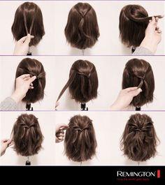 Tener un cabello corto no impide lograr un peinado hermoso. ¡Inténtalo!