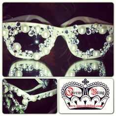 @queensblings photo: ELEGANT WHITE STYLE:only $100, Summer special 20% off + free shipping. Ching2Bling at: www.queensbling.com #eyeglasses #women #rhinestone #travel #famous #bling #sunglasses #queensbling #California #kidsfashions #designersunglasses #special #Motown #swag #unique #Detroit #suneyewear #fashion #boutique #shades #eyewear #new #rhinestonesunglasses #blingsunglasses #designereyewear #diamonds #glitter #new #style #ice #celebrities
