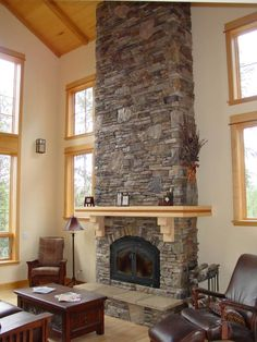 fireplace stone minus mantle. beautiful ideas. Home Design Ideas