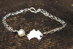 Any State Love Bracelet  Australia or Any by DreamingTreeCreation, $65.00