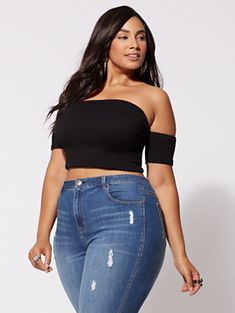 Shop Fashion to Figure for plus size blouses, shirts, bodysuits, sweaters and more – in all the latest styles. Thick Girls Outfits, Curvy Girl Outfits, Curvy Women Fashion, Plus Size Outfits, Plus Size Fashion, Thick Girl Fashion, Petite Fashion, Womens Fashion, Look Plus Size