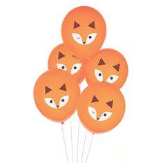 Fox Balloons - Animal Balloons - Woodland Balloons - Fox First Birthday - Woodland Baby Shower - Fox Birthday Decorations - Fox Photo Props Party Animals, Balloon Animals, Animal Party, Animal Balloons, Woodland Party, Woodland Forest, Animal Themed Birthday Party, Fox Party, Orange Balloons
