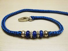 Royal Blue Dog show snap lead leash by BestForShowLeads on Etsy