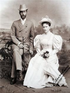Grand Duke Serge and his wife, Elizabeth Feodorovna.