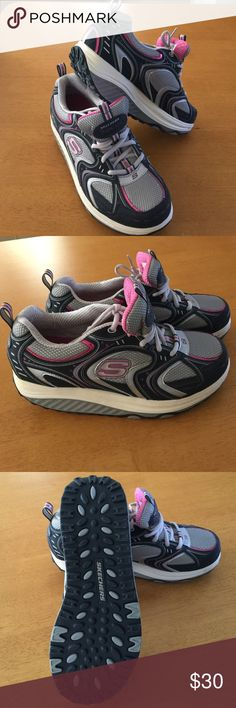 Skechers  Shape-ups Shape up while you walk shoe with rocker bottom. Like new condition. Didn't have the opportunity to use much, time to pass on. Comfy cushioned fit. True size 9. Clean and ready to wear. Skechers Shoes Athletic Shoes