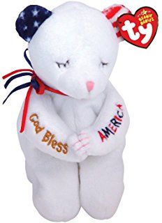 Ty Beanie Babies American Blessing Bear *** Check this awesome product by going to the link at the image. (This is an affiliate link) Beanie Baby Bears, Ty Beanie Boos, Ty Teddy Bear, Rare Beanie Babies, Ty Bears, Ty Babies, Plush Animals, Big Eyes, Dinosaur Stuffed Animal