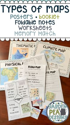 Engaging map skills activities map skills cardinals and scale 400 take a look at 6 different types of maps with these posters graphic organizers gumiabroncs Choice Image